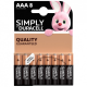 BATTERIE ALCALINE DURACELL SIMPLY AAA 8 PZ