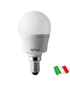 LAMPADA LED SFERA SATINATA 45W=6W WIVA