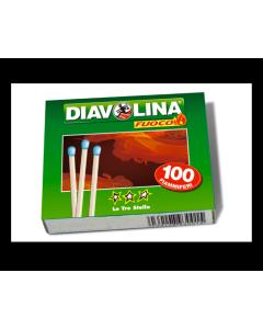FIAMMIFERI DIAVOLINA PICCOLI 100 PZ