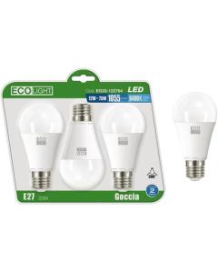 LAMPADINE ECOLIGHT LED E27 12W LUCE FREDDA CONFEZIONE 3PZ