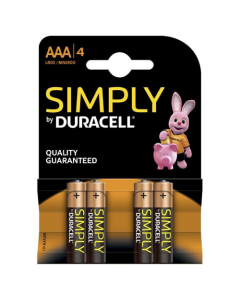 BATTERIE DURACELL SIMPLY MINISTILO 1,5V AAA 4PZ
